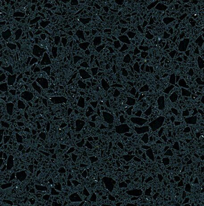 Anthra Black Engineered Quartz Kitchen Countertops